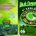 Dia de Campo – Sítio do Cedro – Primeiro Leilão GIROLANDO (Folder Frente)